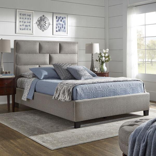 Skyler Gray Upholstered Queen Panel Bed, image 6